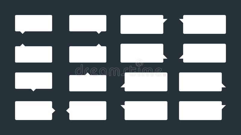 Установите 16 tooltips или воздушных шаров речи бесплатная иллюстрация