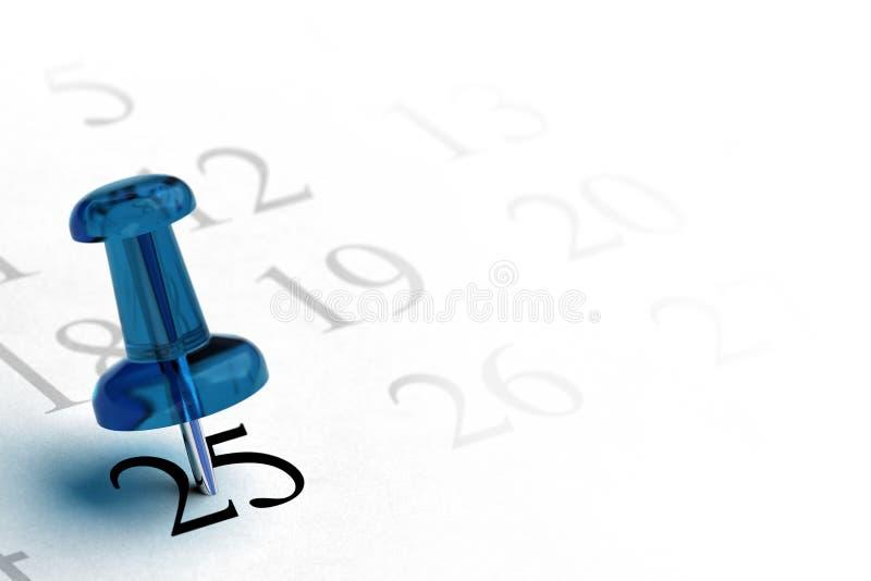 установка запланирования даты иллюстрация штока