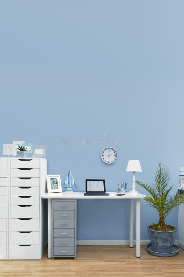 Установка интерьера домашнего офиса стоковая фотография