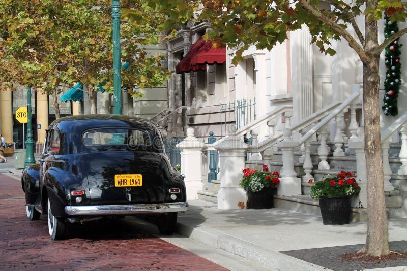 Установка классического автомобиля классическая стоковое фото