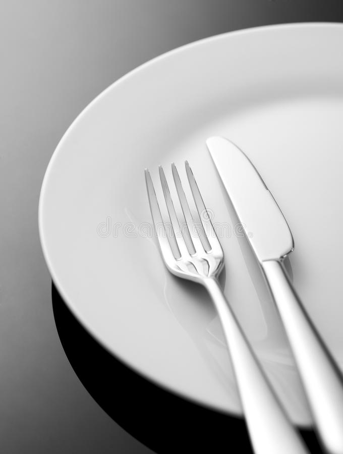 Установка места обеда стоковые изображения