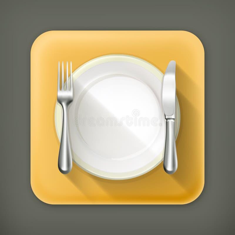 Установка места обеда иллюстрация вектора