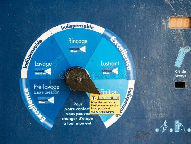 Установка мойки разнообразная для уборщика воды давления от пре-была стоковая фотография rf