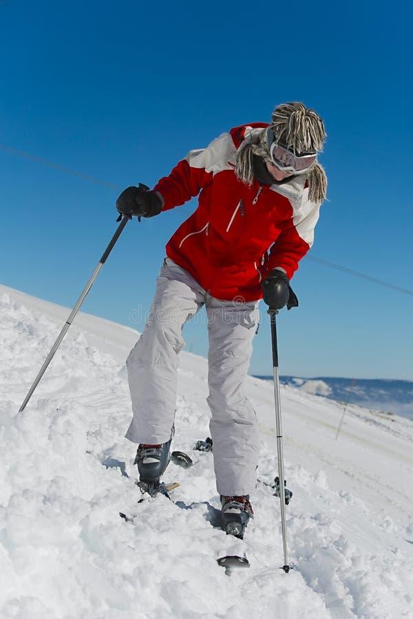 Установка на лыжи стоковые изображения