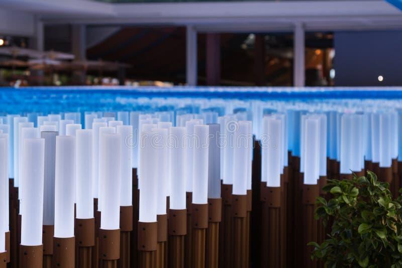 Установка освещения для павильона 2015 Китая ЭКСПО милана стоковое изображение