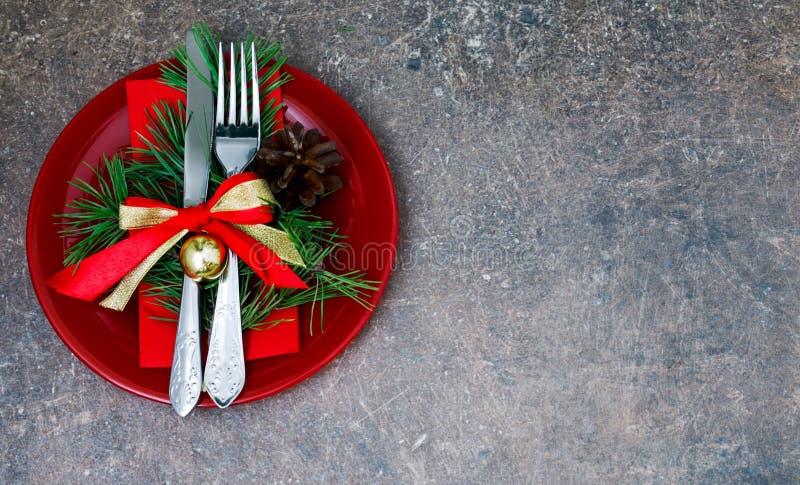Установка рождества с праздничными украшениями стоковые изображения