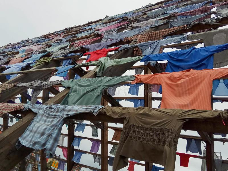 Установка рубашек в Осло, Норвегию В каждой рубашке рассказ стоковые фото