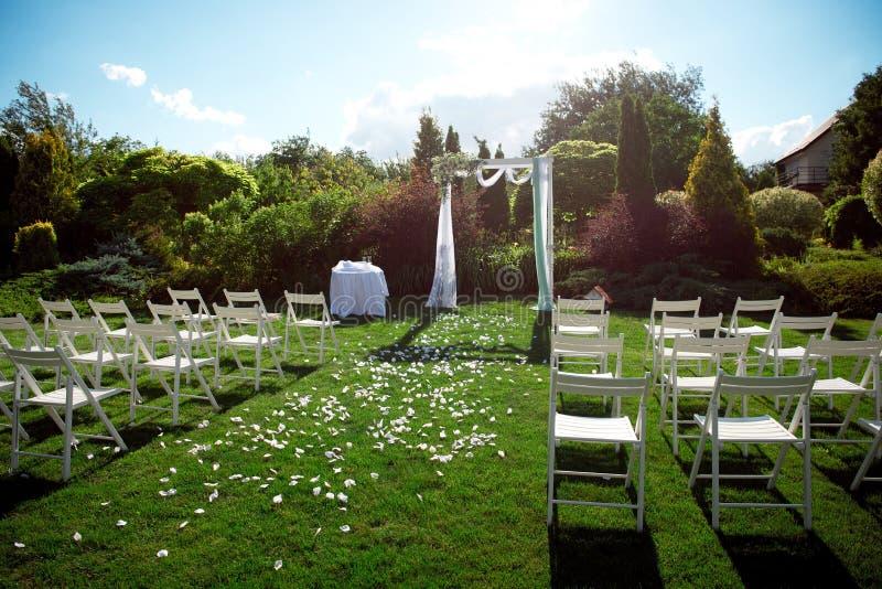 Установка свадьбы стоковые изображения