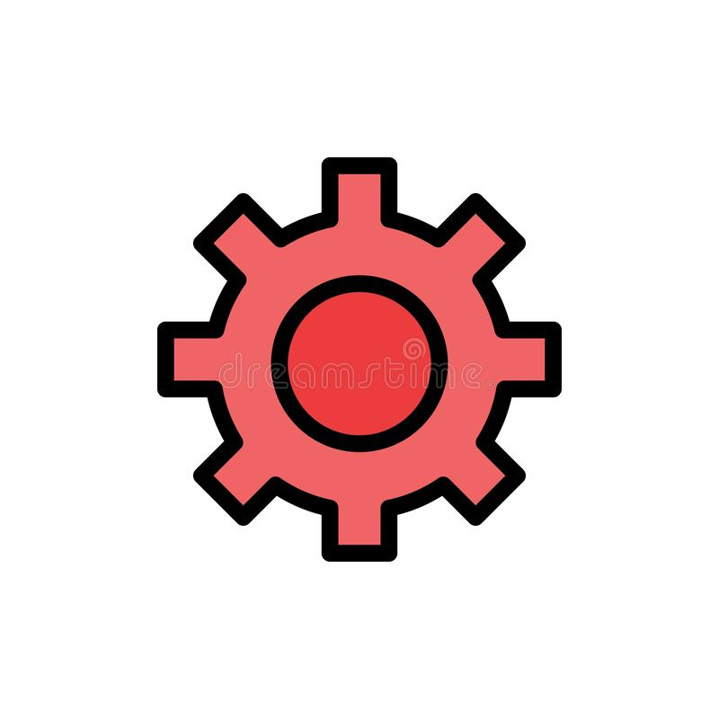 Установка, шестерня, интерфейс, значок цвета потребителя плоский Шаблон знамени значка вектора бесплатная иллюстрация