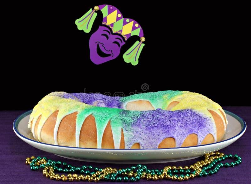 установка mardi королей gras торта стоковое изображение