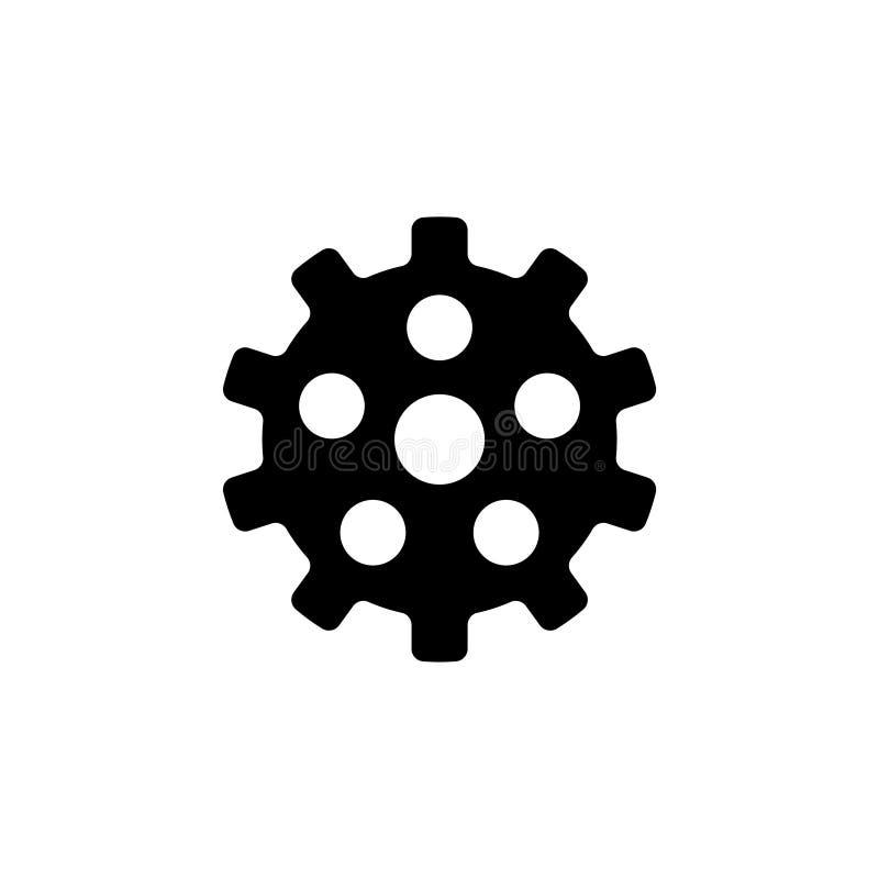 Установки, значок вектора Clockwork плоский бесплатная иллюстрация