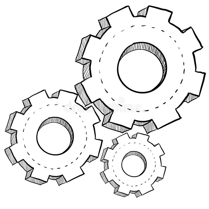установки механиков иллюстрации шестерни бесплатная иллюстрация