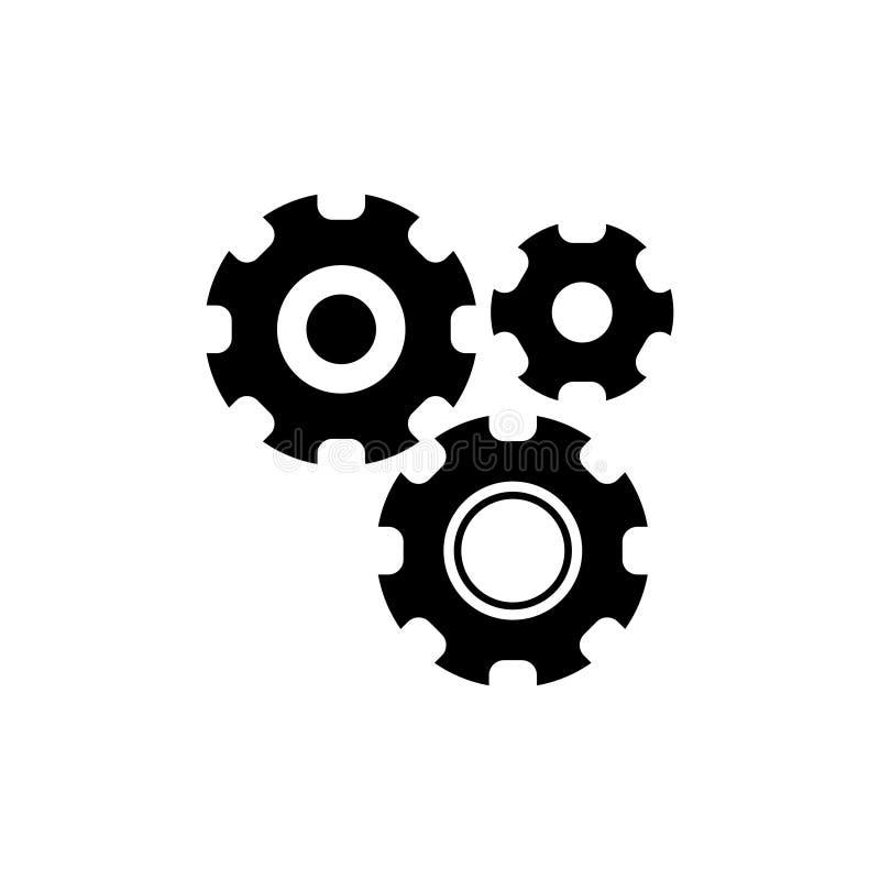 Установки с дополнительным значком вектора шестерней бесплатная иллюстрация