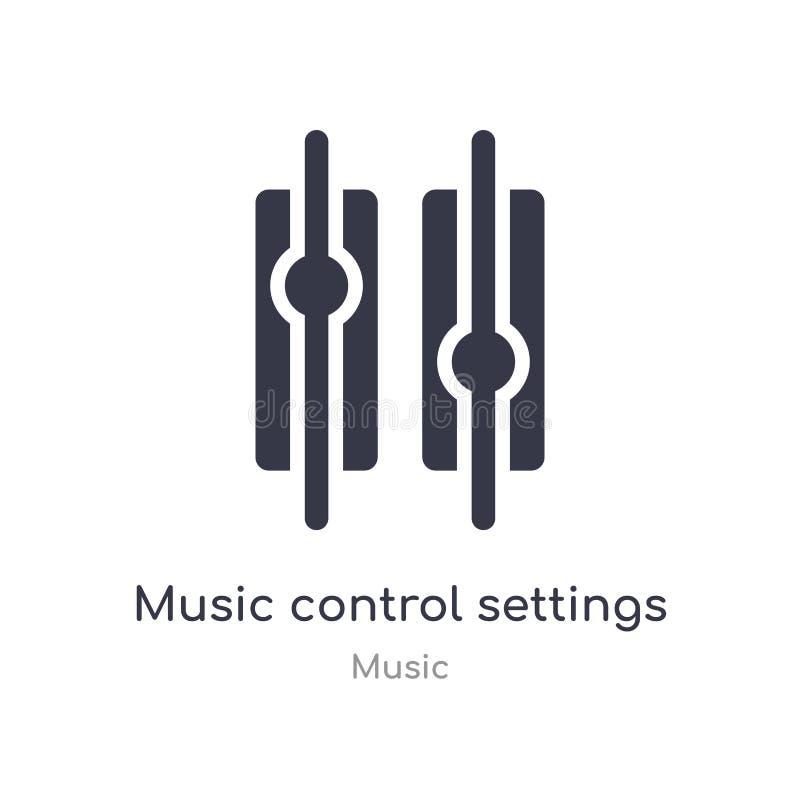 установки управлением музыки застегивают значок плана изолированная линия иллюстрация вектора от собрания музыки editable тонкая  бесплатная иллюстрация