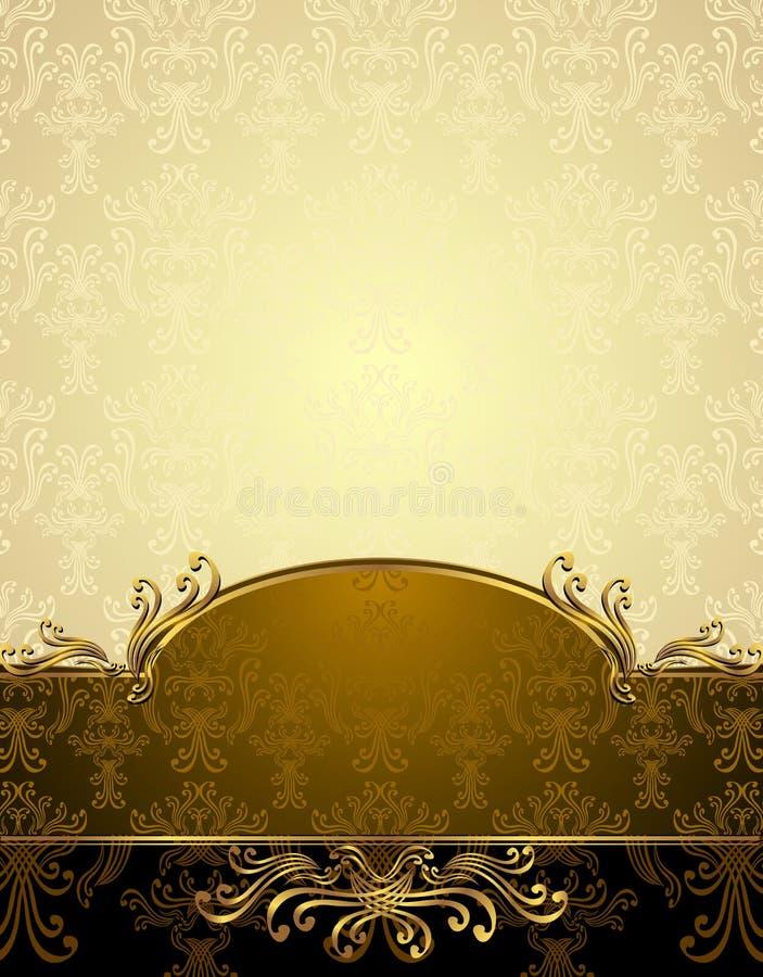 Установленная безшовная картина в викторианском типе иллюстрация штока