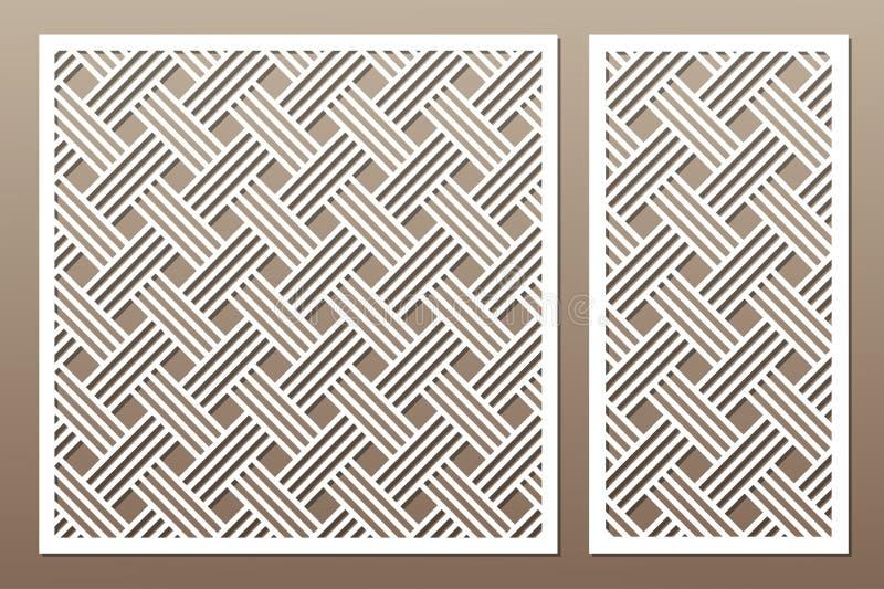 Установленная декоративная карточка для резать геометрическая линия картина Лазер c иллюстрация штока