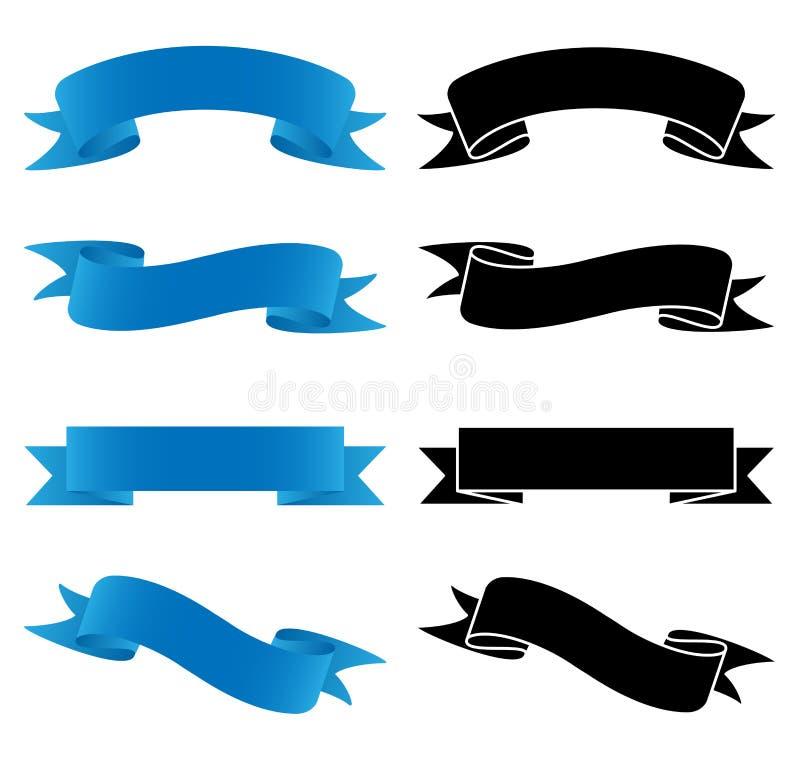 Установленная знаменами иллюстрация вектора иллюстрация вектора