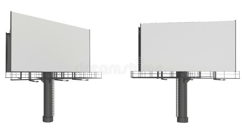 Установленная пустая большая афиша Модель-макет для ваших рекламы и дизайна иллюстрация вектора