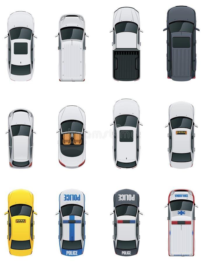 Установленные автомобили вектора иллюстрация штока