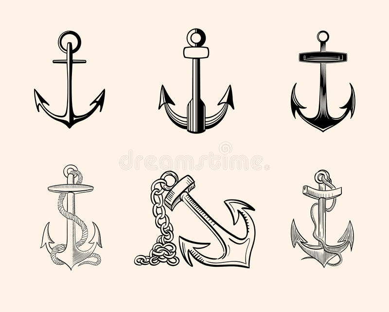 установленные анкеры иллюстрация штока