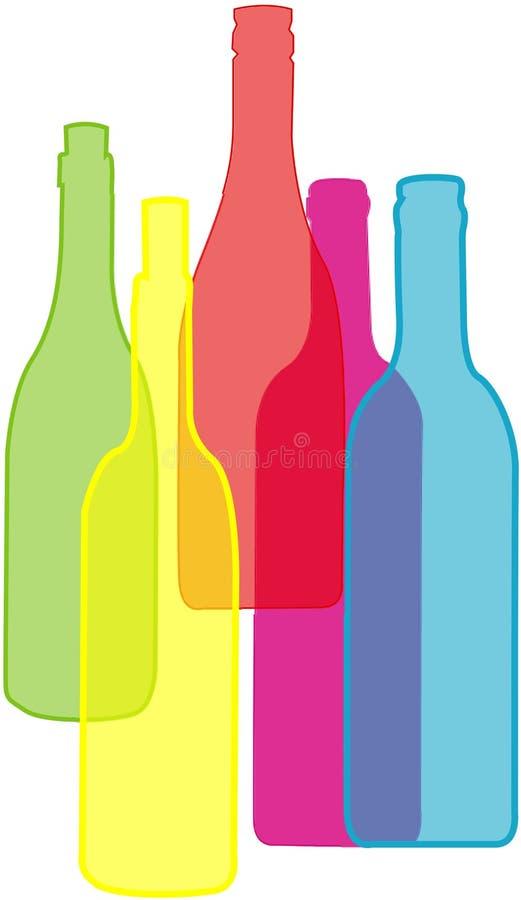 установленные бутылки стоковые фото