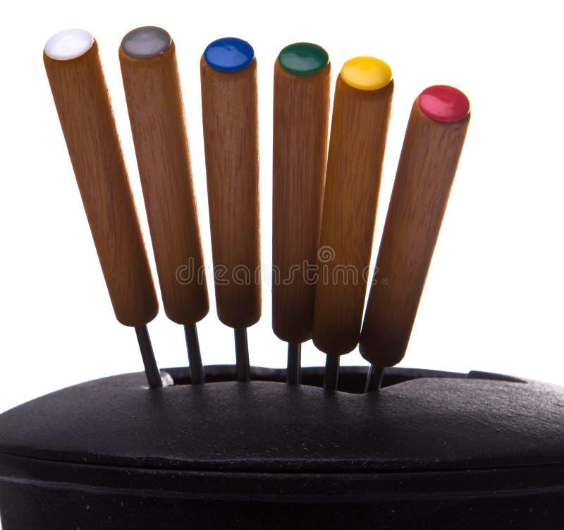 установленные вилки стоковое изображение rf