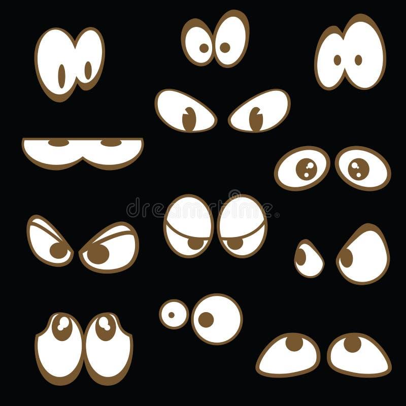 установленные глаза шаржа бесплатная иллюстрация