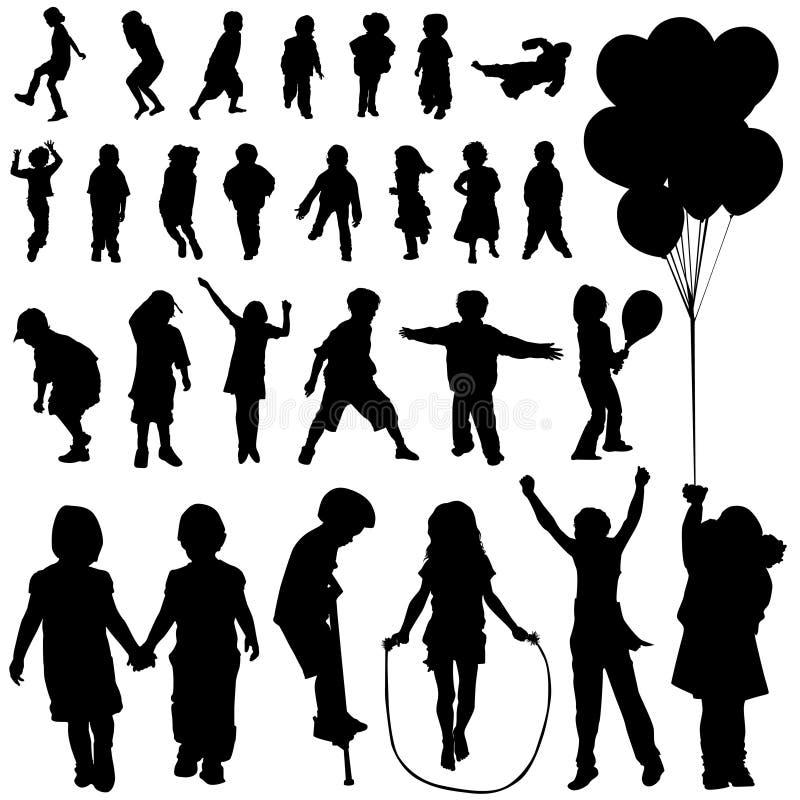 установленные дети иллюстрация вектора