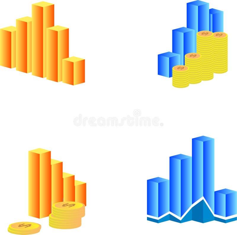 установленные диаграммы бесплатная иллюстрация