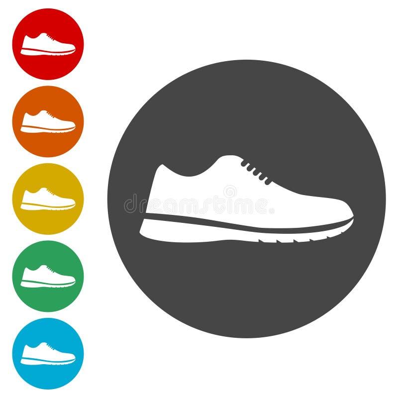 Установленные значки ботинка спорта бесплатная иллюстрация