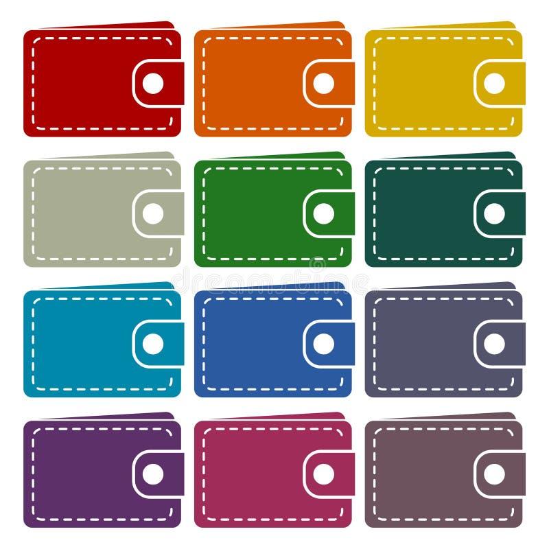 Установленные значки бумажника бесплатная иллюстрация