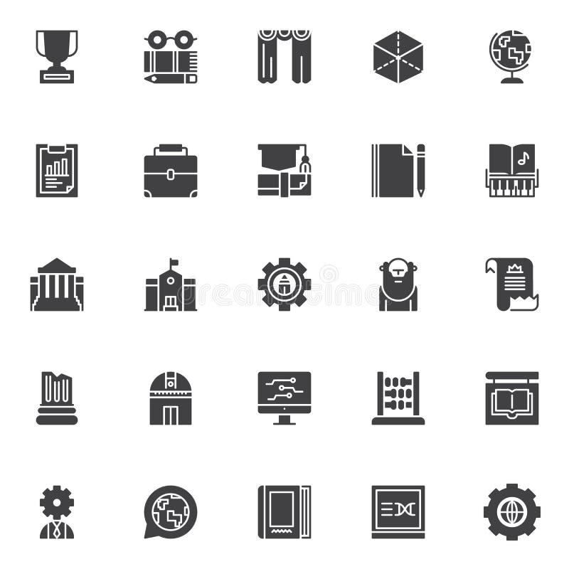 Установленные значки вектора образования и знания бесплатная иллюстрация