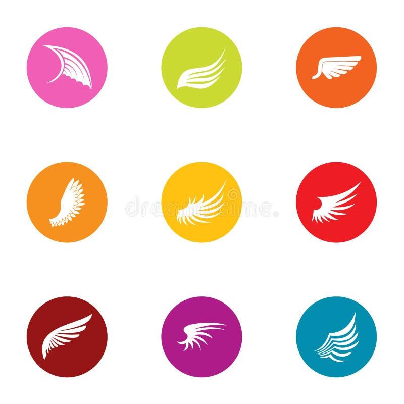 Установленные значки, плоский стиль взлета бесплатная иллюстрация