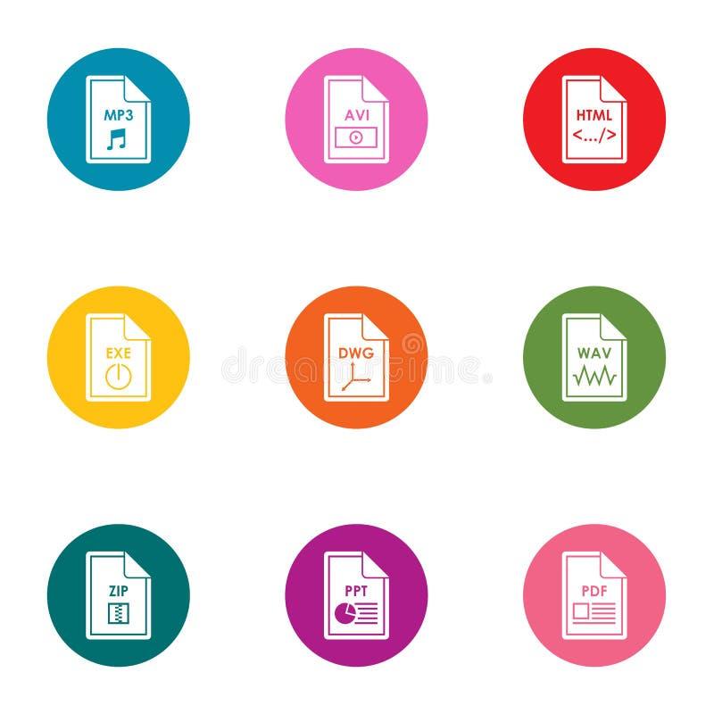 Установленные значки, плоский стиль файла бесплатная иллюстрация