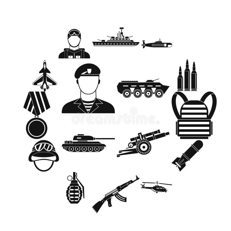 Установленные значки, простой стиль войны бесплатная иллюстрация