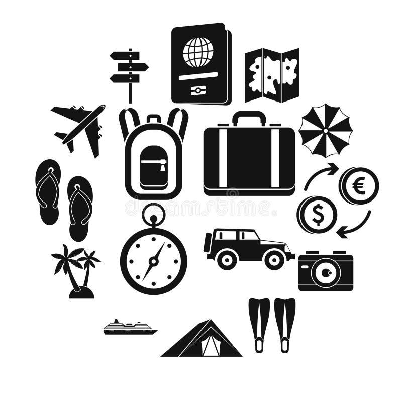 Установленные значки, простой стиль перемещения бесплатная иллюстрация