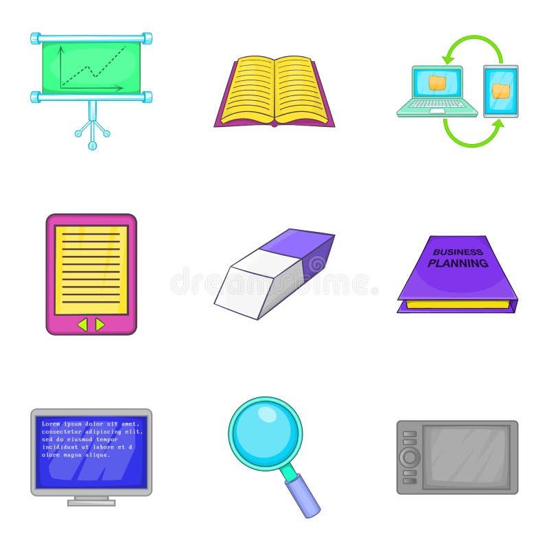 Установленные значки, стиль развития компьютера шаржа бесплатная иллюстрация