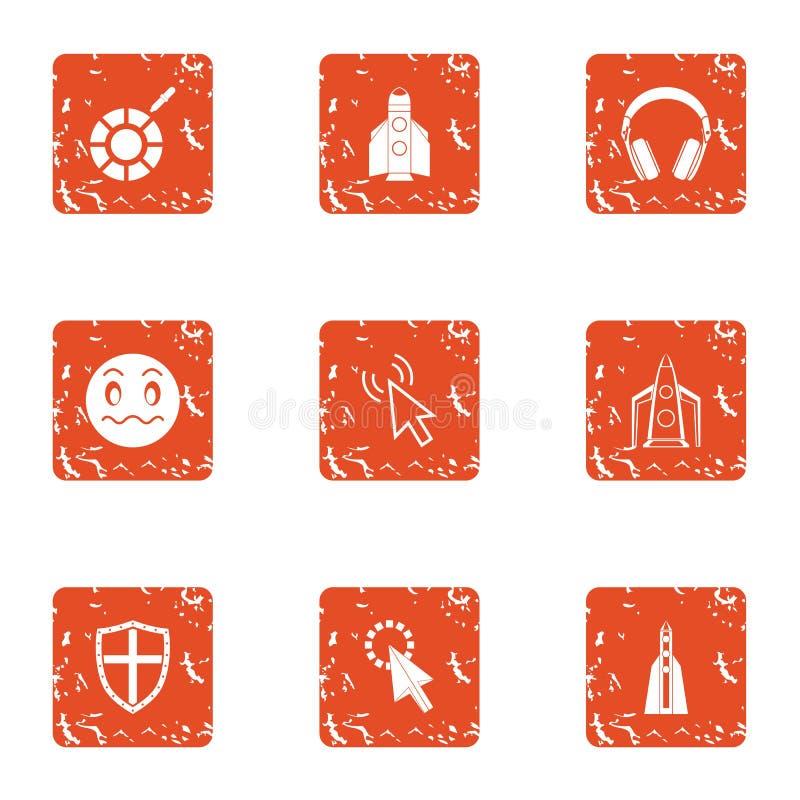 Установленные значки, стиль ребенка Ракеты grunge бесплатная иллюстрация