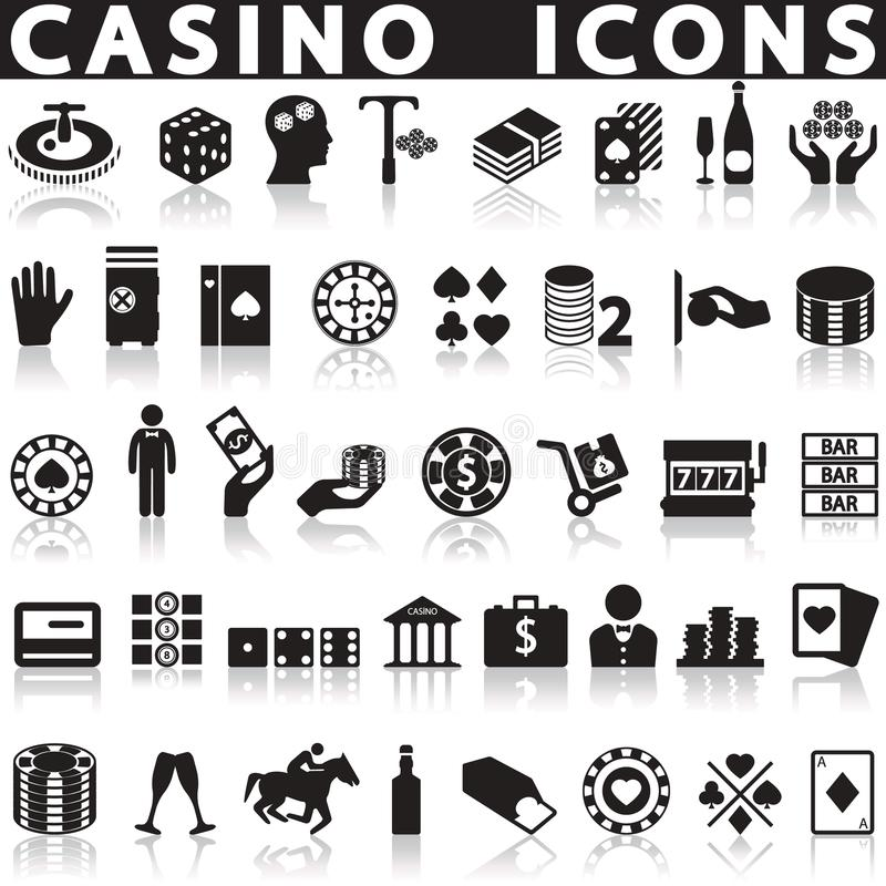 установленные иконы казино бесплатная иллюстрация