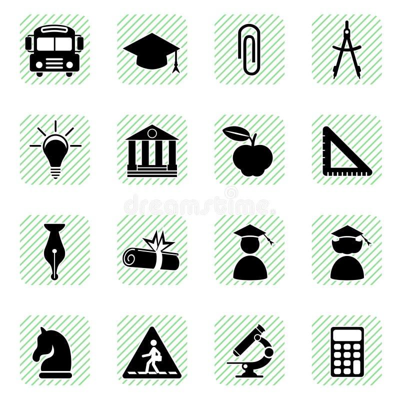 установленные иконы образования иллюстрация штока