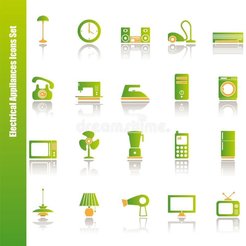 установленные иконы приборов электрические иллюстрация вектора