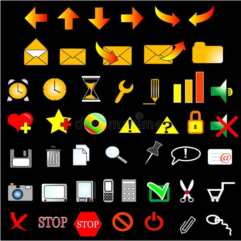 установленные иконы иллюстрация штока