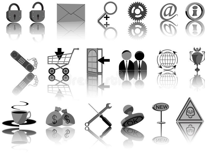 установленные иконы иллюстрация вектора