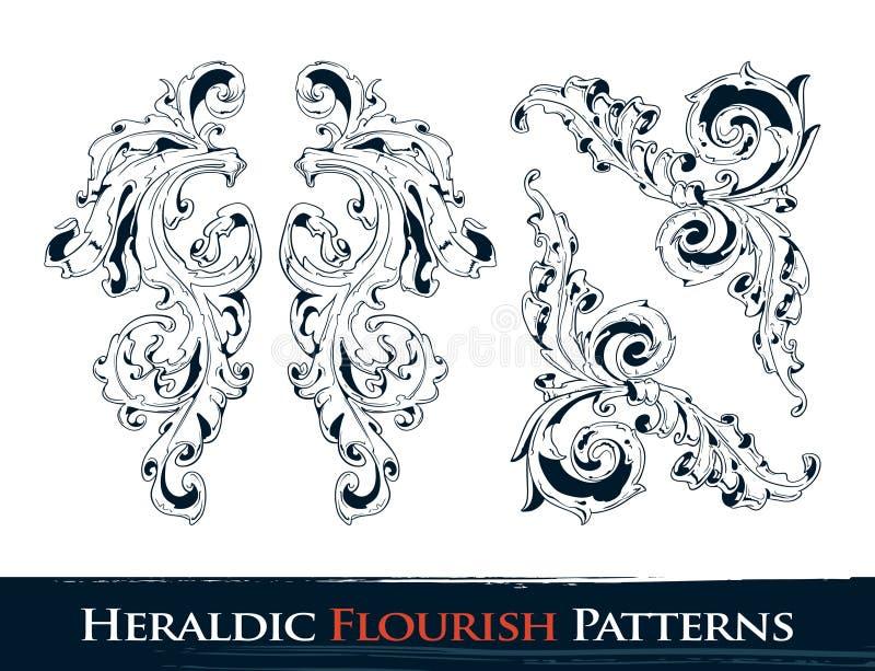 установленные картины flourish heraldic бесплатная иллюстрация