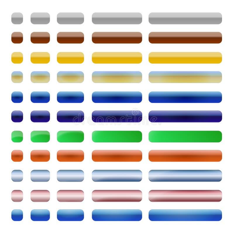 Установленные кнопки сети бесплатная иллюстрация