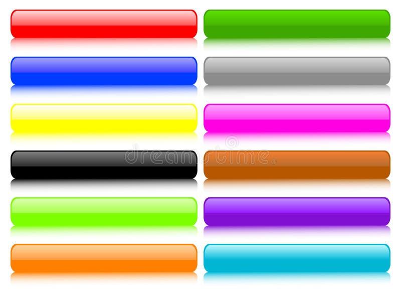 установленные кнопки иллюстрация штока