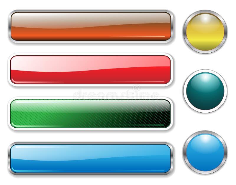 установленные коллекторы знамен иллюстрация вектора