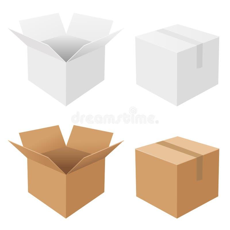 установленные коробки иллюстрация штока