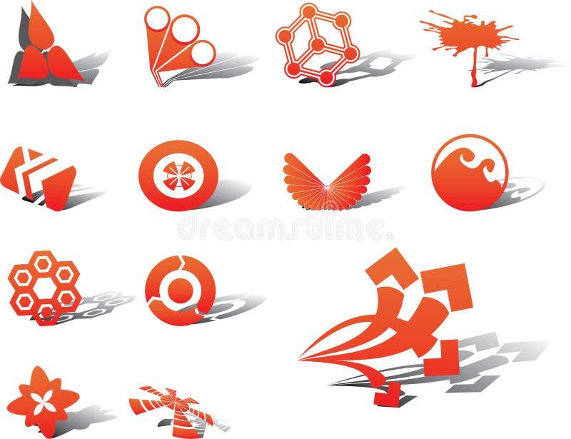 установленные логосы икон дела тавр 59a иллюстрация вектора