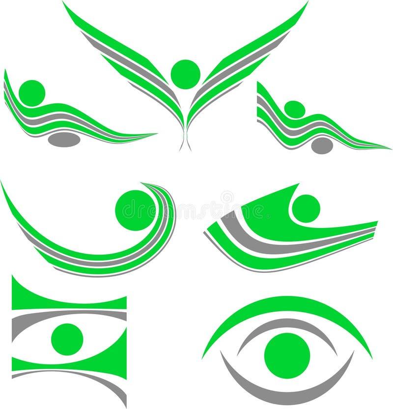 установленные логосы компании иллюстрация вектора